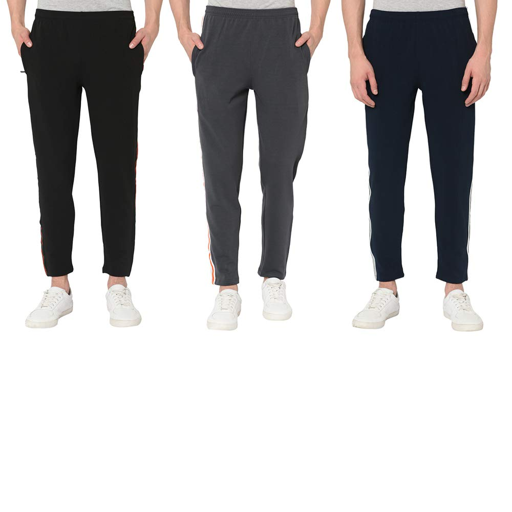 PROSPO Chicago Trackpants for Men/Ideal for Casual WEAR & Sports/