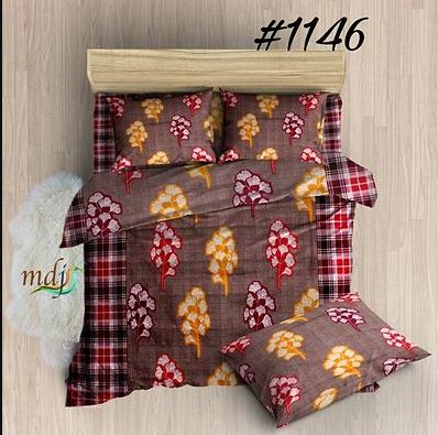 Trendy Attractive Microfiber 1 Bedsheet + 2 Pillowcovers