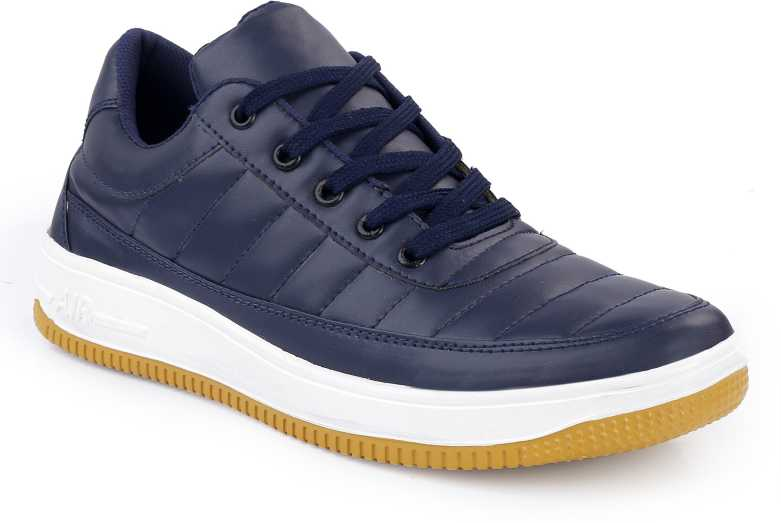 SHOE ISLAND  Icon-X Fashionable Navy Blue Leatherette Trendy Modern Daily Wear Lace Ups Running Casual Shoes Sneakers For Men  (Navy, Blue)