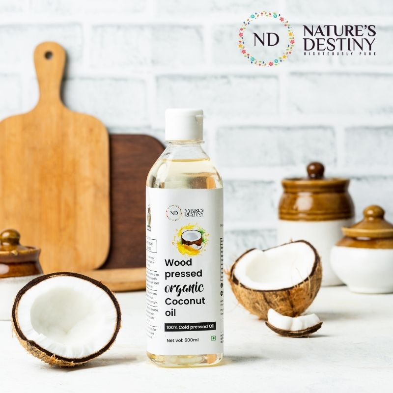 Cold Pressed Coconut Oil (Edible) (Woodpressed)