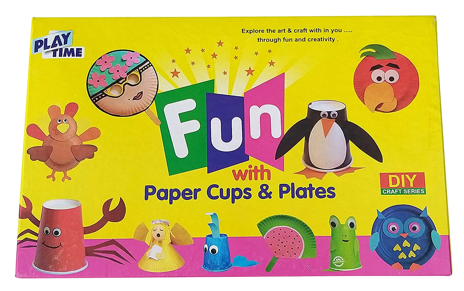 Prospo Fun with Paper Cup and Plates Game, Creative Game for Kids, Board Game for Kids, Ideal Birthday Gift
