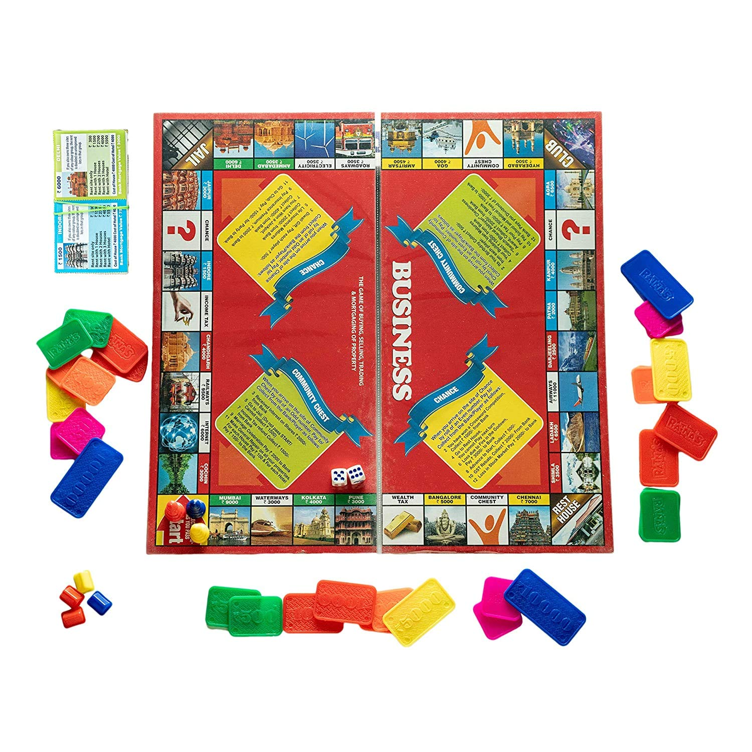 Prospo Deluxe Business World, Board Game for Kids, Best Birthday Gift for Kids, Money and Assets Board Game
