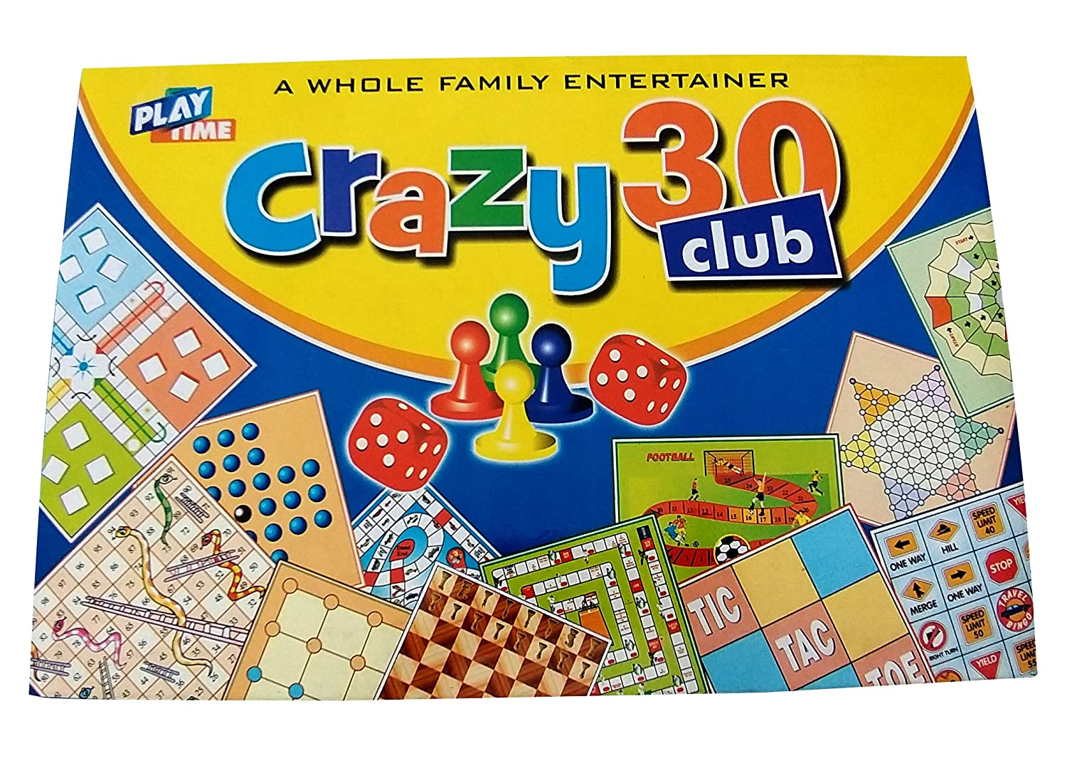 Prospo Crazy 30 Club Game, Board Games for Kids, Game Under Rs. 500, Pack of 30 Games in One Box, Great Birthday Gift