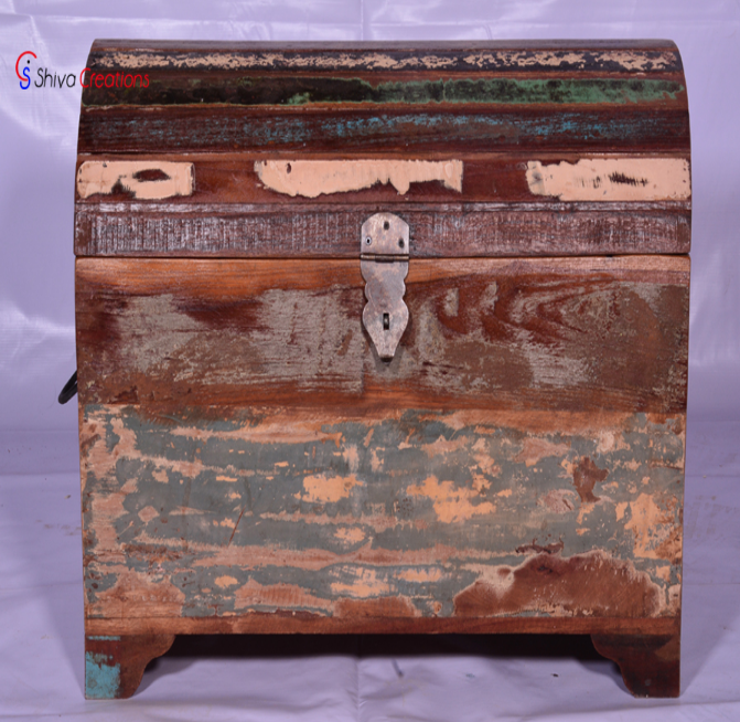 Eco-Friendly Vintage Antique Rustic Small Wooden Trunk Storage Box