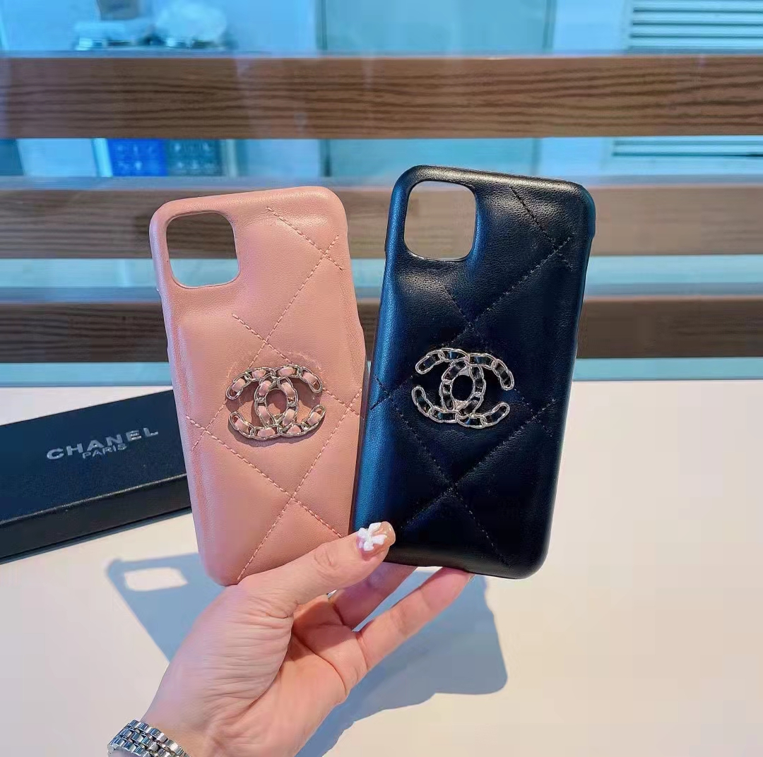 Chanel lambskin rhomboid leather iPhone13 mobile phone case1