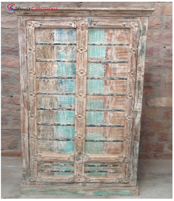 Antique Style Bed Room Reclaimed Furniture Wooden Almirah