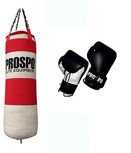 PROSPO Strong Waterproof Canvas (36 inch) Punching Bag with Boxing Gloves 12 Oz.