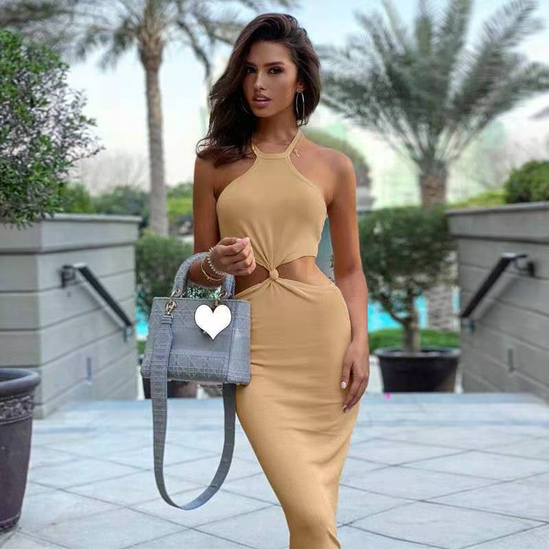 European and American style sexy lace-up dress 2021 summer new