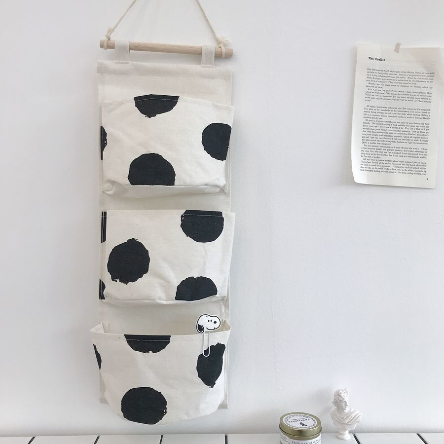[One hundred packs] Cotton and linen hanging storage hanging bag