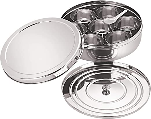 Neelam Stainless Steel Spice Box Set of 10 Pieces - 1575 ml