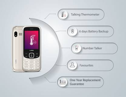 Lava Pulse1- with contactless Talking Thermometer  (Rose Gold)