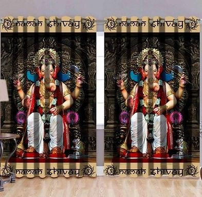 Polyester Digital Printed 2 Pieces Door Curtains