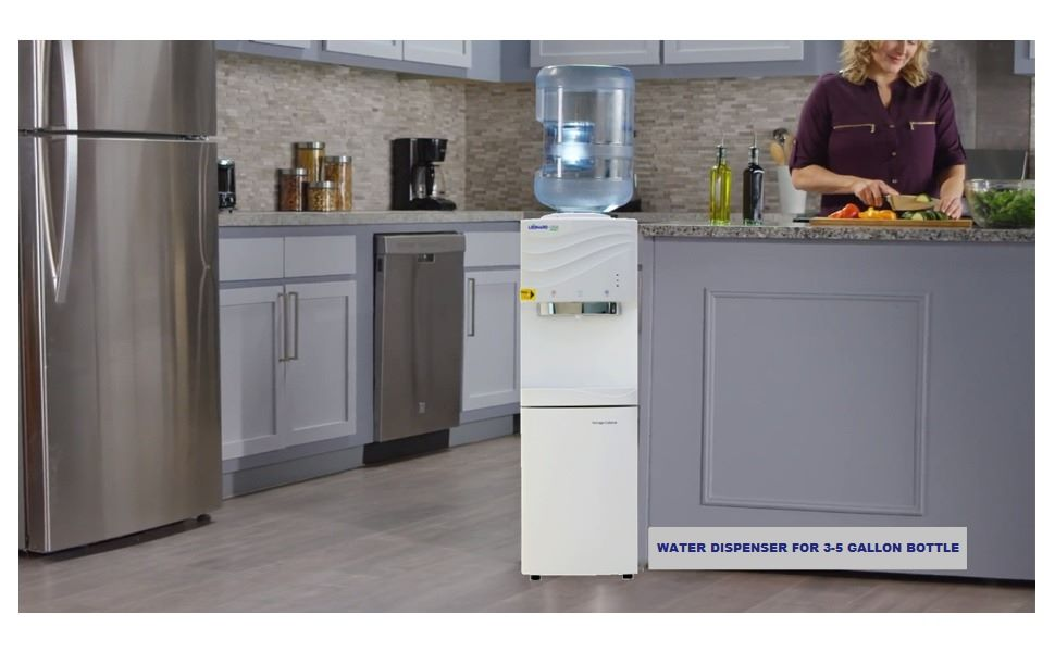 LEONARD USA Hot, Cold and Normal Water Dispenser with Refrigerator , Based on American Technology