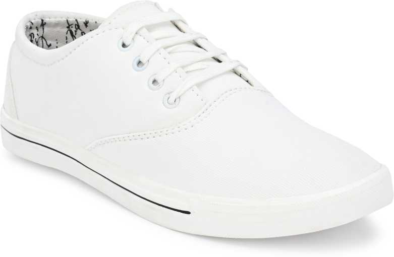 Carlo Style  Mens Canvas Shoes for boys (White) Sneakers For Men  (White)