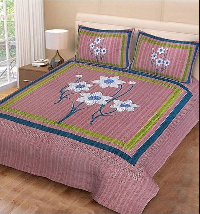 Premium Cotton Pink Bedsheet With 2 Pillow Covers