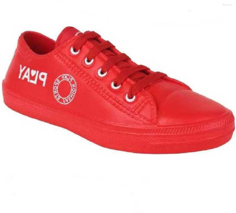 Qtsy  Stylish Design Sneakers Shoes For Men & Boys - Play Red Casual Shoes Sneakers For Men  (Red)
