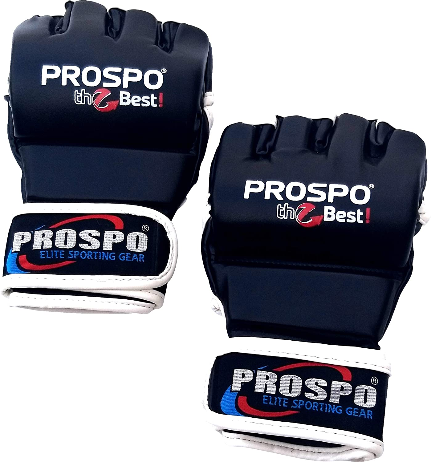 PROSPO Combat Gloves, Combat Gloves for Men, Combat MMA Gloves with Open Thumb (Red,1 Pair)